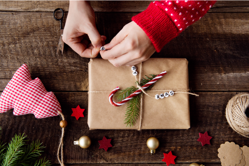 wrapping presents - take the stress out of Christmas