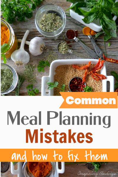 Common Meal Planning Mistakes