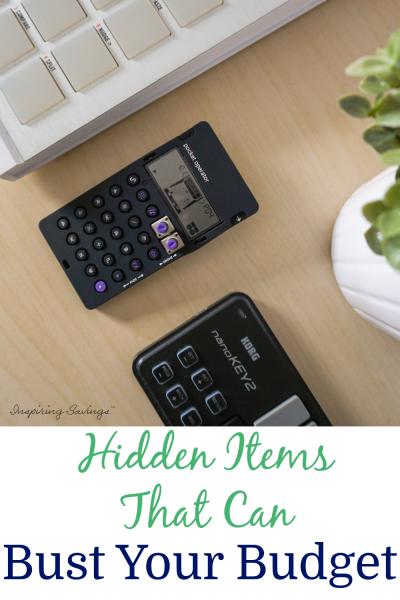 Hidden items that can bust your budget