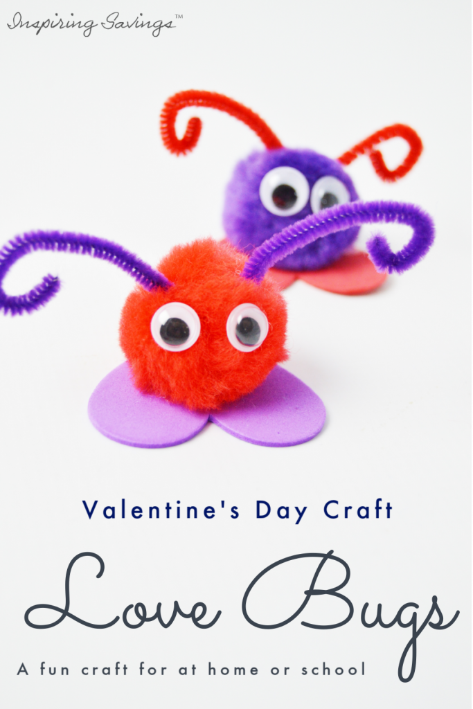 Looking for Valentine Craft Ideas? Valentine's Day Love Bug Craft For Kids will make an excellent kid-made gift idea! These are easy and fun to make with the kids. They're quick, inexpensive, and easy.