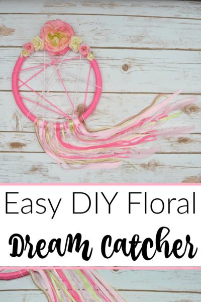 Easy DIY Floral Dream Catcher