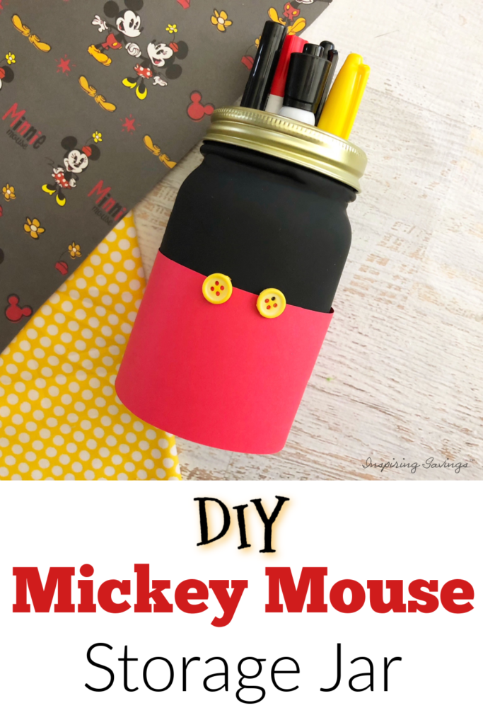 Mickey Mouse DIY storage jar