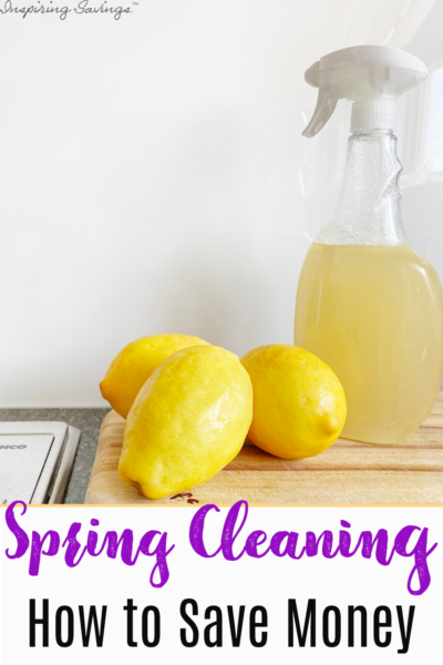 Saving Money on spring cleaning