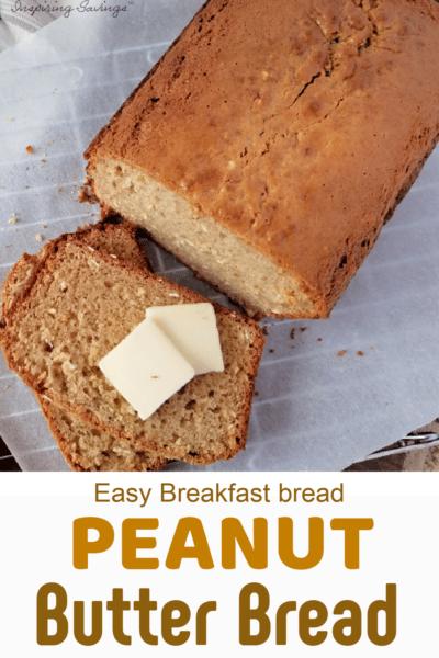 Peanut Butter bread breakfast
