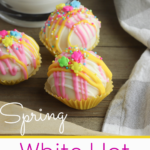 Spring White Hot Chocolate Bombs