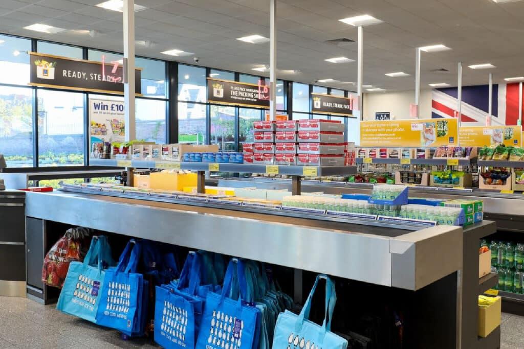 Aldi Checkout register - tips for shopping at aldi