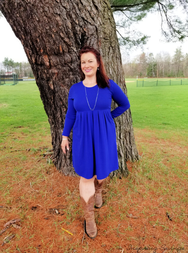 Nadine West Style Box review - Blue Dress with pockets