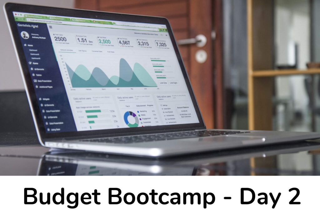 Budget bootcamp Day 2