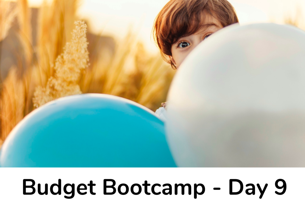 Budget Bootcamp Day 9