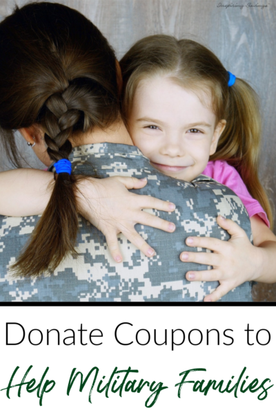 Donate Coupons Military coupon