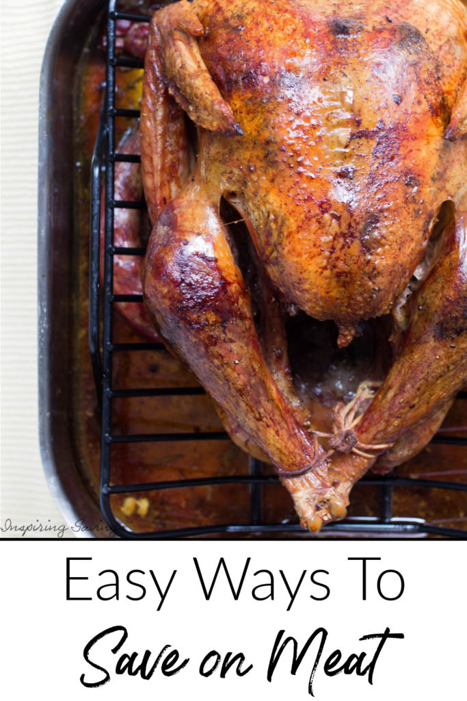 whole chicken with text over lay. How to save on meat.