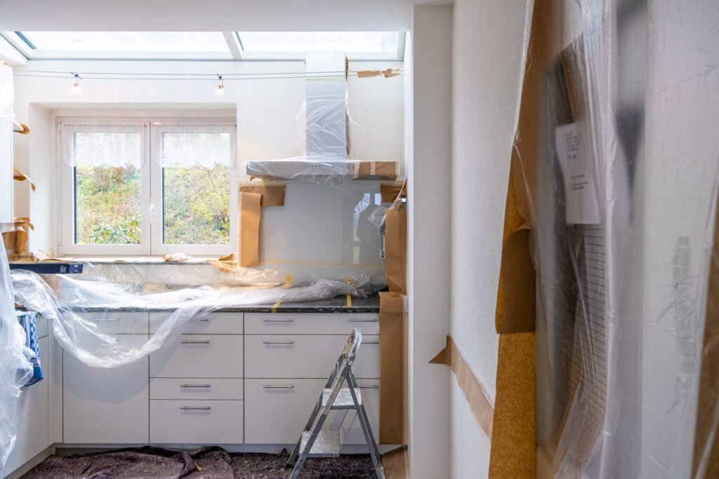 Kitchen Renovation project - cleaning hacks prepare projects ahead of time
