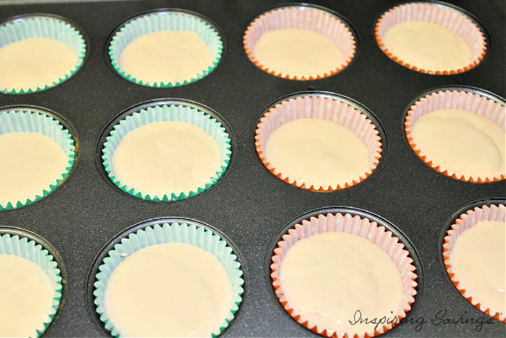 Orange Crush Soda Batter in Cupcake liners ready to be baked