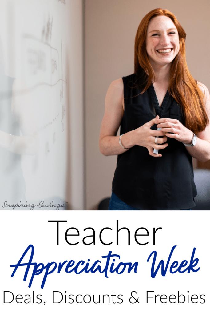 Teacher at white board - teacher appreciation week