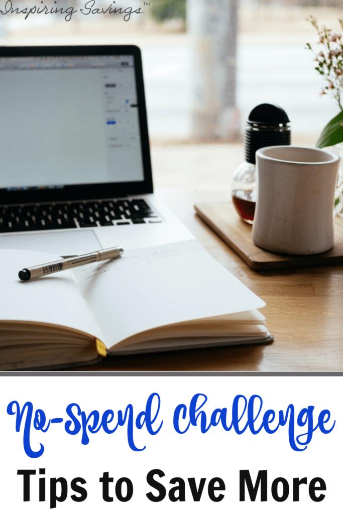 Computer on desktop - working on no spend challenge