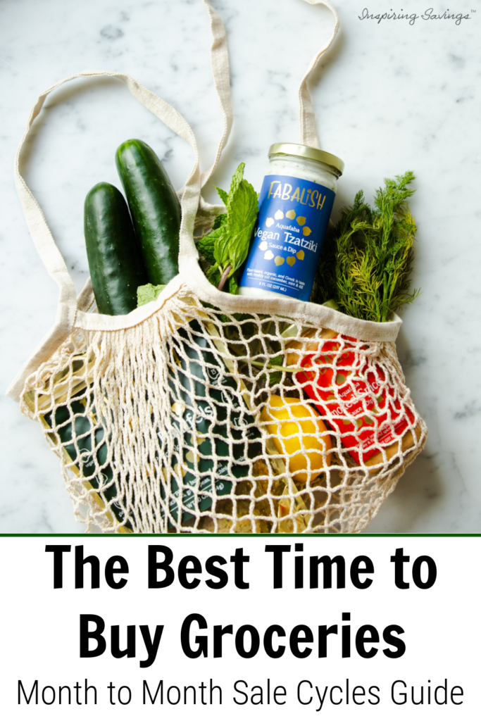 A bag full of groceries - a month to month grocery sales cycle Guide
