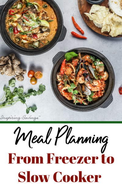 Meal Planning freezer to slow cooker