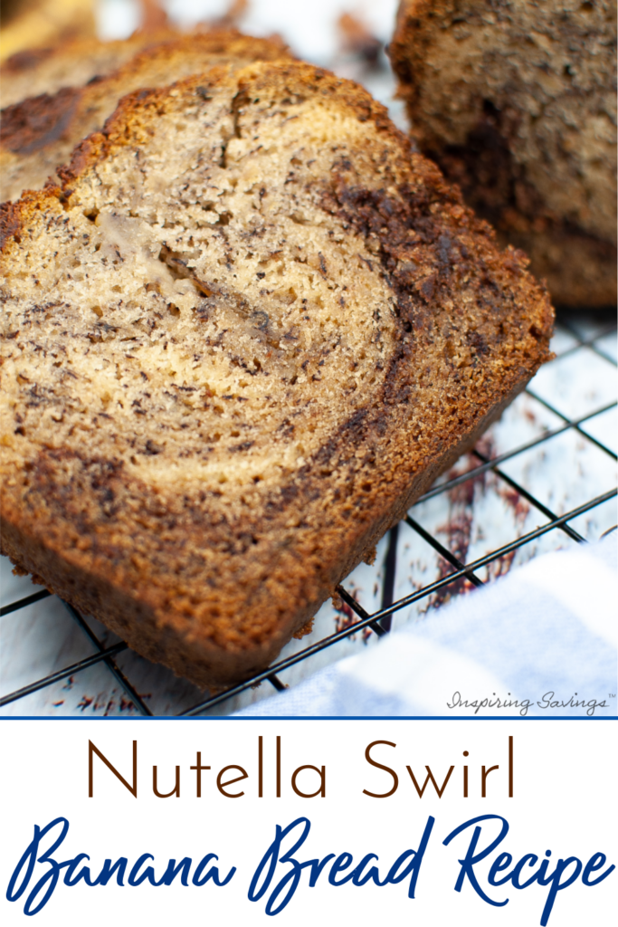 This Nutella Swirl Banana bread is full of ripe bananas and will replace all the other banana bread recipes you have! Easy to make and delicious to eat.