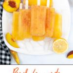 Peach Lemonade Homemade Popsicles hero image