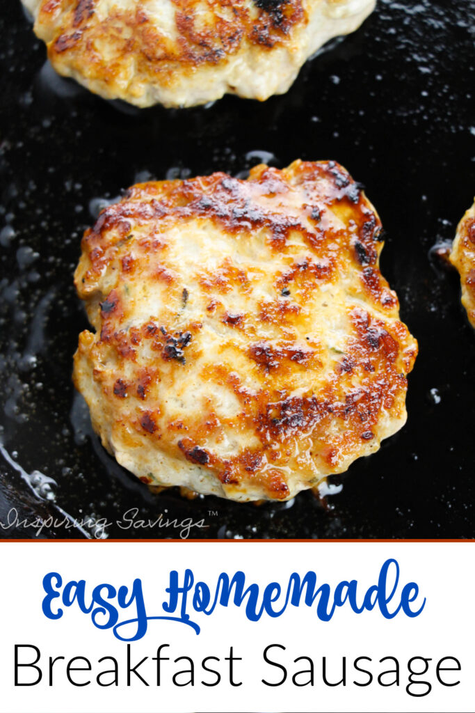 Breakfast Sausage Patties are so easy to make on your own, full of flavor from mixed spices. Serve them with eggs and bacon for a complete breakfast your family will love!