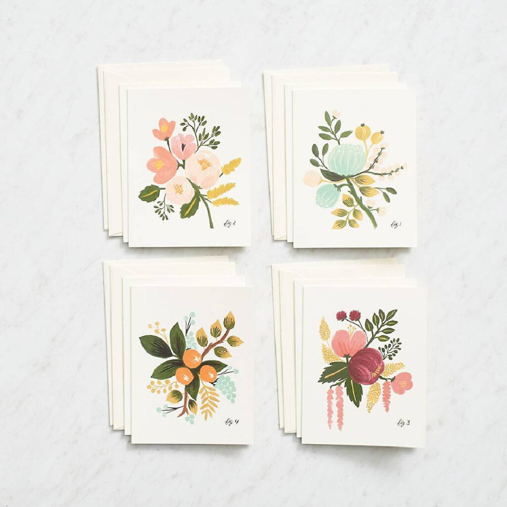 Flower Stationary Set - Holiday Gift Guide