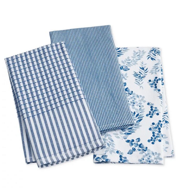 Martha Steward Cotton Kitchen Towels Set