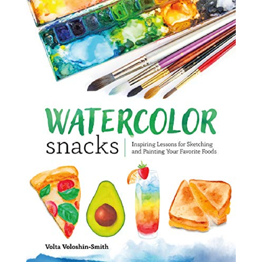 Water color Snacks book - Holiday Gift Guide