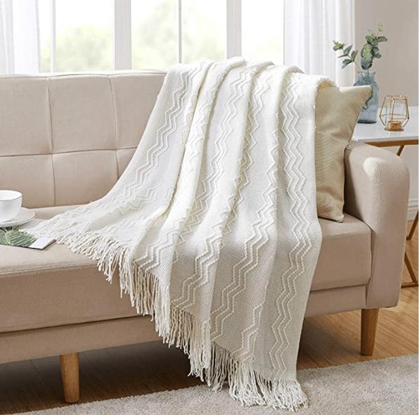 Decorative knit blanket