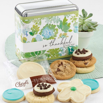 Thank you for you gift box cookie tin