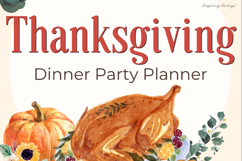 Thanksgiving Dinner Party Planner - Free Downloadable planner