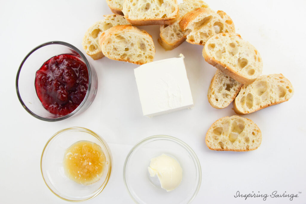 Ingredients need for Cranberry Crostini