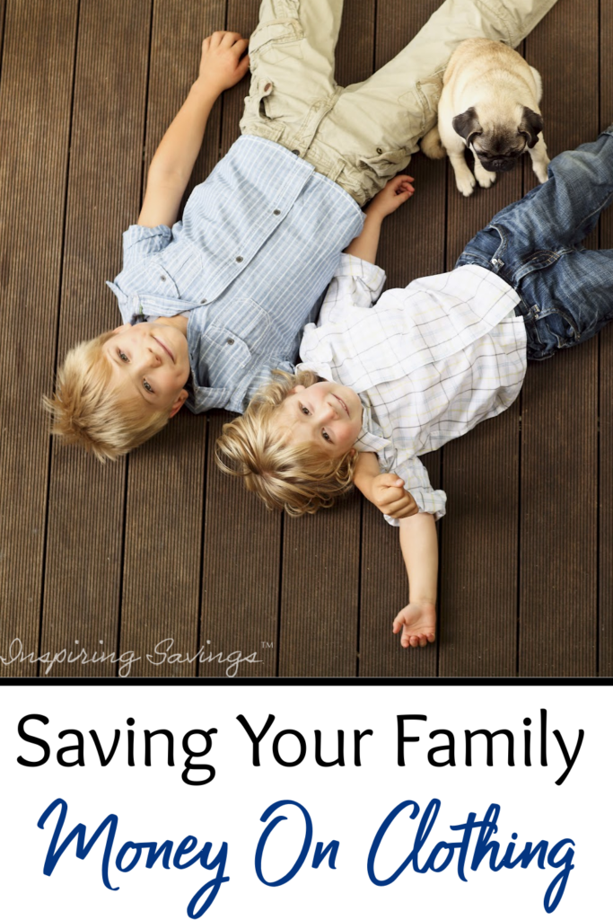 Saving your family money on clothing